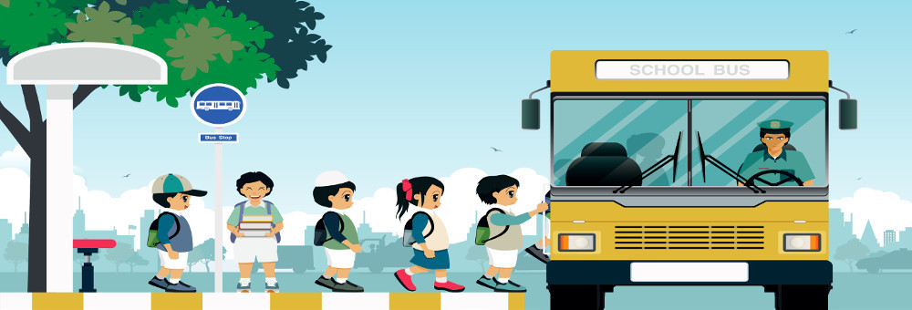 School transport banner